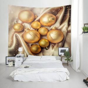 Christmas Glitter Baubles Print Tapestry Wall Hanging Art Décoration -