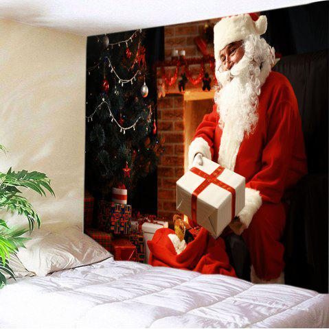 Chic Christmas Santa Presents Print Tapestry Wall Hanging Art Decoration