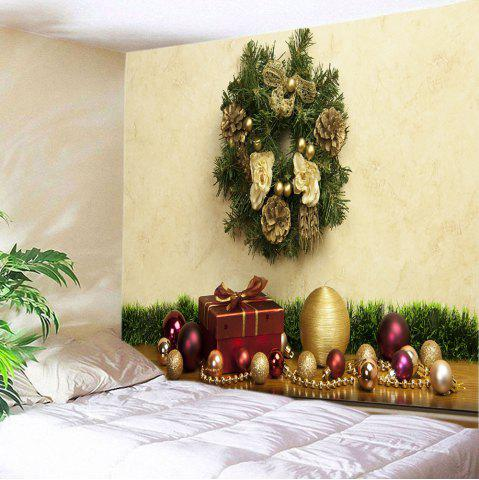 Fashion Christmas Baubles Gift Print Tapestry Wall Hanging Decoration - W79 INCH * L71 INCH COLORMIX Mobile