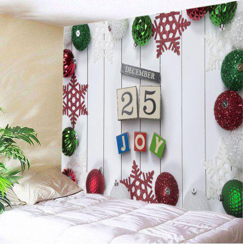 Christmas Baubles Joy Print Tapestry Wall Hanging Art Décoration Blanc Largeur 59pouces*Longeur 51pouces