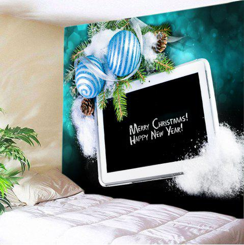 Store Christmas Balls Panel Computer Print Tapestry Wall Hanging Art Decoration BLACK W59 INCH * L51 INCH