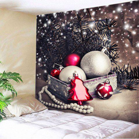 Chic Christmas Baubles Tree Print Tapestry Wall Hanging Art Decoration - W59 INCH * L51 INCH COLORMIX Mobile