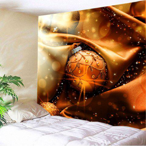 Sale Christmas Bauble Print Tapestry Wall Hanging Decor - W59 INCH * L51 INCH BROWN Mobile