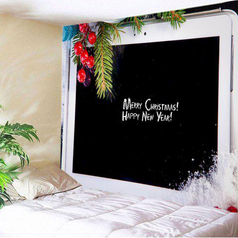 Online Christmas Tablet Computer Print Tapestry Wall Hanging Art Decoration