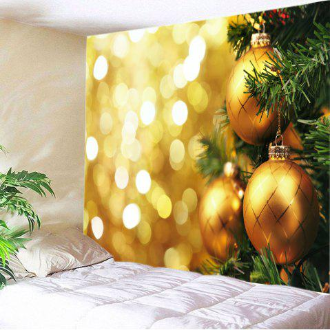 Christmas Hanging Baubles Print Tapestry Wall Hanging Art Décoration