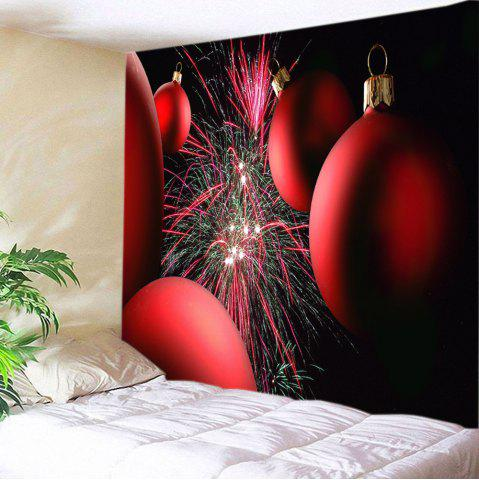 Christmas Baubles Firework Print Tapestry Wall Hanging Art Décoration Rouge Largeur 59pouces*Longeur 51pouces