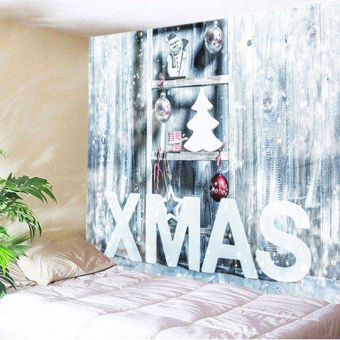 Trendy Xmas Snow Print Tapestry Wall Hanging Art Decoration WHITE W59 INCH * L51 INCH