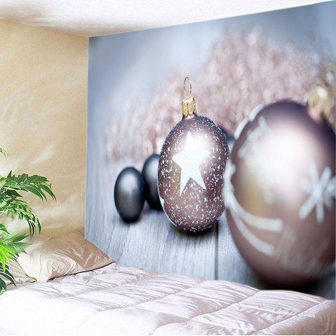 Trendy Christmas Bauble Wood Print Tapestry Wall Hanging Art Decoration - W59 INCH * L51 INCH COLORMIX Mobile