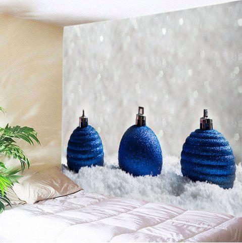 Fancy Christmas Baubles Snowfield Print Tapestry Wall Hanging Art Decoration BLUE W59 INCH * L51 INCH
