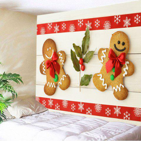 Biscuits de Noël People Print Tapisserie Wall Hanging Art Decoration Multicolore
