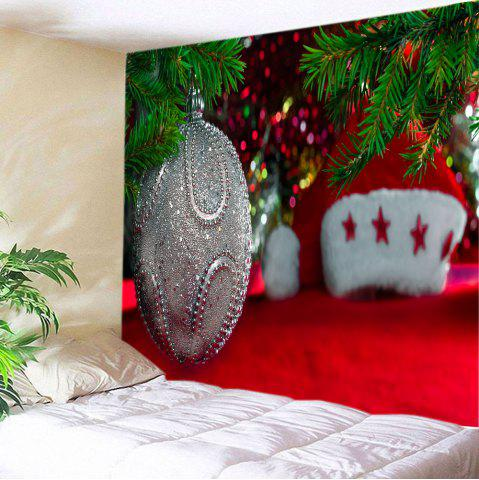 Chic Christmas Bauble Hat Print Tapestry Wall Hanging Art Decoration