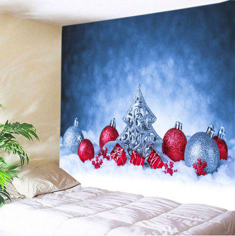Snowfield Christmas Baubles Print Tapestry Wall Hanging Art Décoration Multicolore