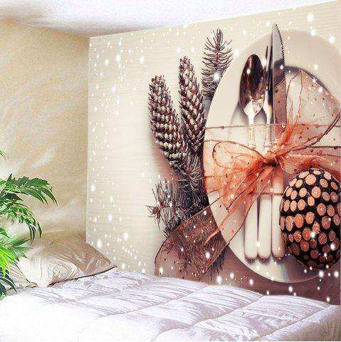 Outfit Christmas Tableware Print Tapestry Wall Hanging Art Decoration - W59 INCH * L51 INCH COLORMIX Mobile