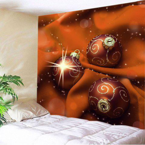 Chic Christmas Cloth Baubles Print Tapestry Wall Hanging Art Decoratio