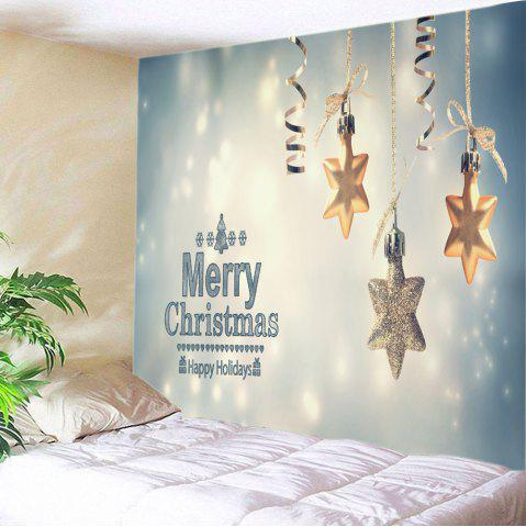 Merry Christmas Star Print Tapestry Wall Hanging Art Décoration Multicolore
