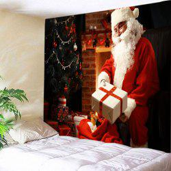 Christmas Santa Presents Print Tapestry Wall Hanging Art Decoration -