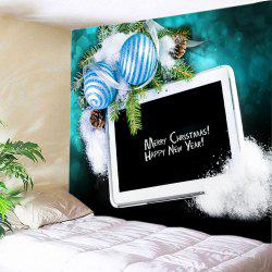 Christmas Balls Panel Computer Print Tapestry Wall Hanging Art Decoration - BLACK W59 INCH * L51 INCH