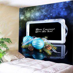 Christmas Baubles Computer Print Tapestry Wall Hanging Art Decoration -