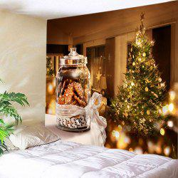 Christmas Tree Biscuits Print Tapestry Wall Hanging Art Decoration -