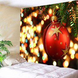 Christmas Bauble Lights Print Tapestry Wall Hanging Art Decoration -