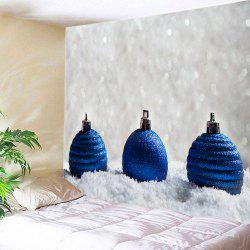 Christmas Baubles Snowfield Print Tapestry Wall Hanging Art Decoration - BLUE W59 INCH * L51 INCH