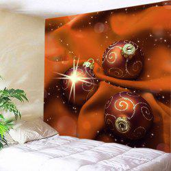 Christmas Cloth Baubles Print Tapestry Wall Hanging Art Decoratio -