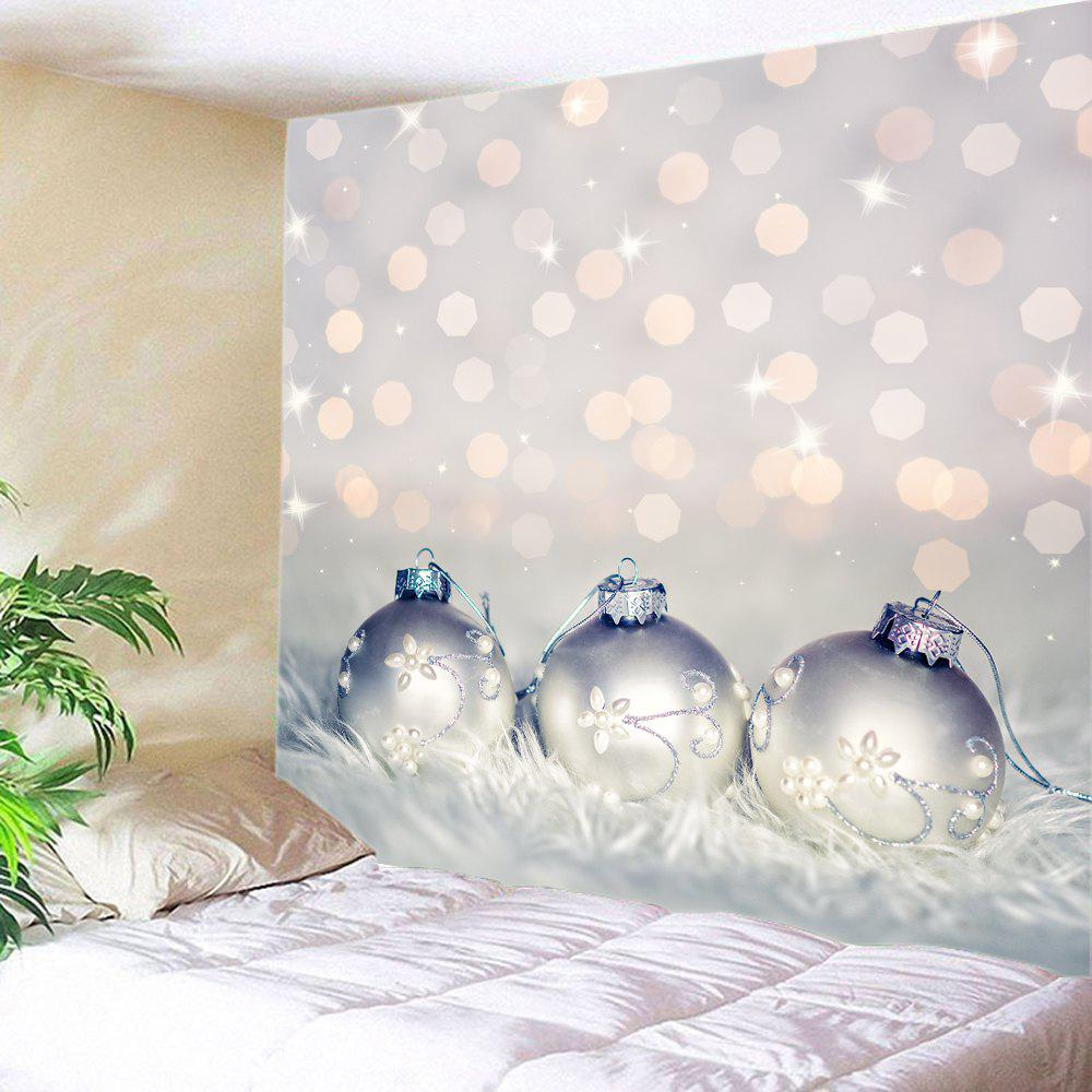Xmas Baubles Print Tapestry Wall Hanging Art DecorationHOME<br><br>Size: W91 INCH * L71 INCH; Color: COLORMIX; Style: Festival; Theme: Christmas; Material: Polyester; Feature: Washable; Shape/Pattern: Ball; Weight: 0.4000kg; Package Contents: 1 x Tapestry;