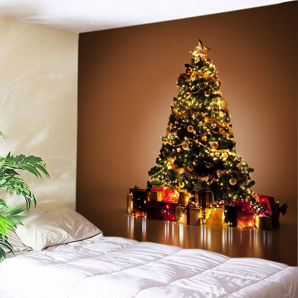 Christmas Tree Gift Print Tapestry Wall Hanging DecorationHOME<br><br>Size: W59 INCH * L51 INCH; Color: COLORMIX; Style: Festival; Theme: Christmas; Material: Polyester; Feature: Washable; Shape/Pattern: Gift,Tree; Weight: 0.3000kg; Package Contents: 1 x Tapestry;