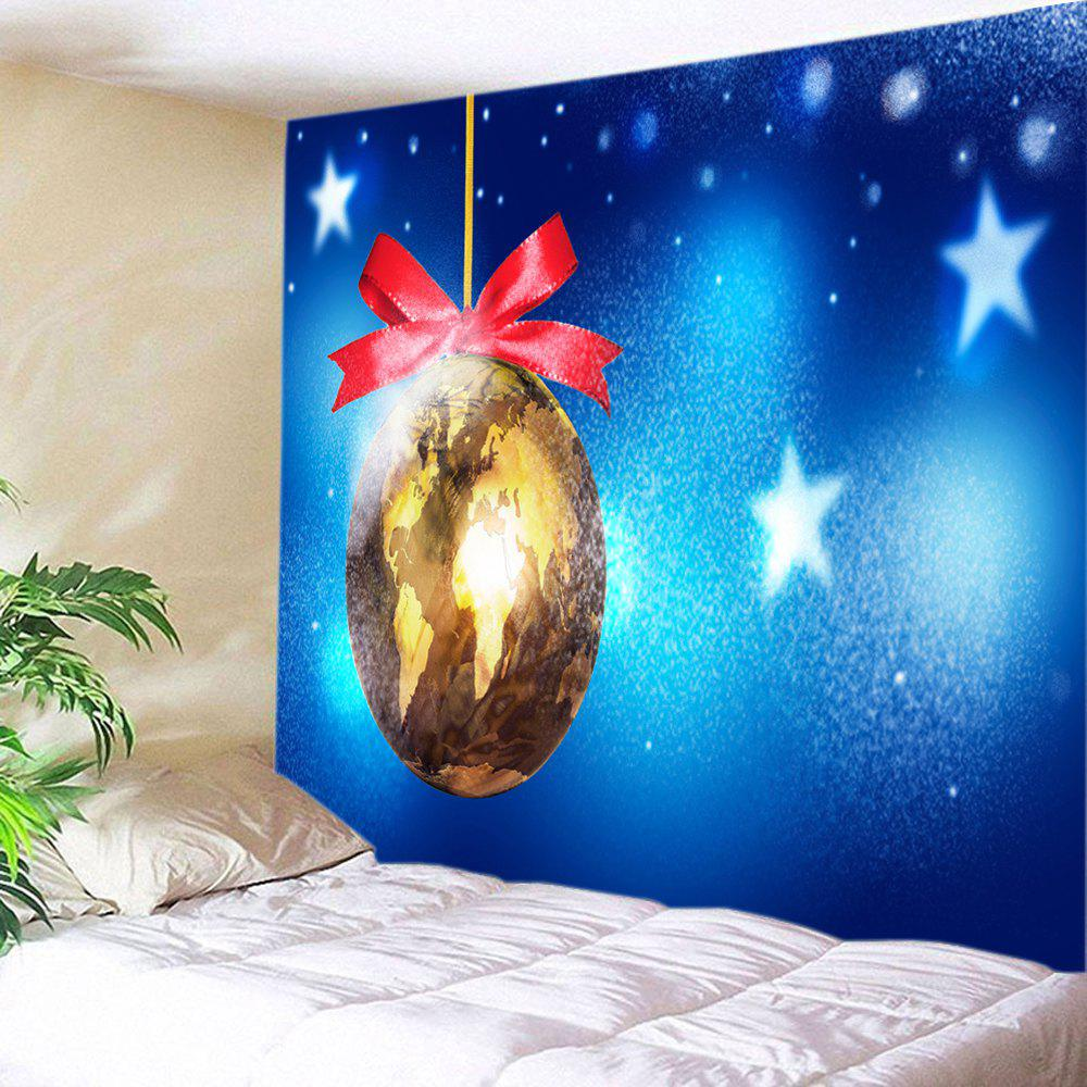 Buy Christmas Map Bauble Print Tapestry Wall Hanging Art Decoration
