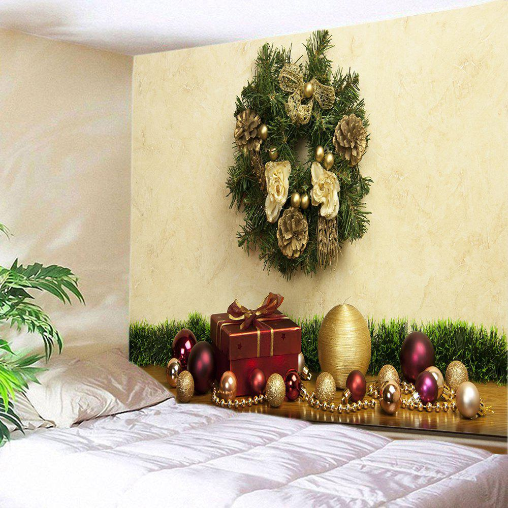 Christmas Baubles Gift Print Tapestry Wall Hanging DecorationHOME<br><br>Size: W91 INCH * L71 INCH; Color: COLORMIX; Style: Festival; Theme: Christmas; Material: Polyester; Feature: Washable; Shape/Pattern: Ball,Gift; Weight: 0.4000kg; Package Contents: 1 x Tapestry;