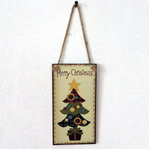Fancy Christmas Tree Pattern Door Decor Wooden Hanging Sign BUTTERCUP