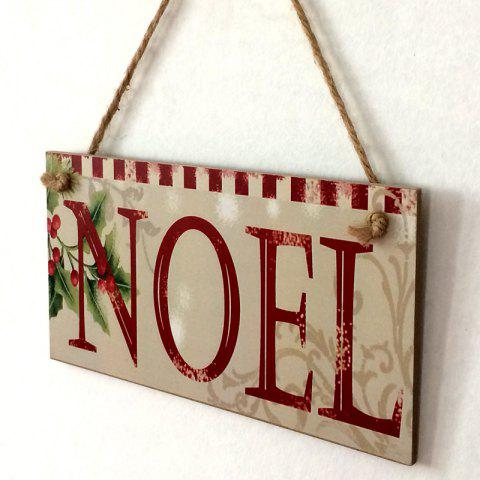 Outfits Christmas Noel Pattern Door Decor Wooden Hanging Sign