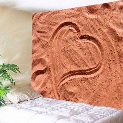 Beach Heart Print Tapestry Wall Hanging Art Decoration -