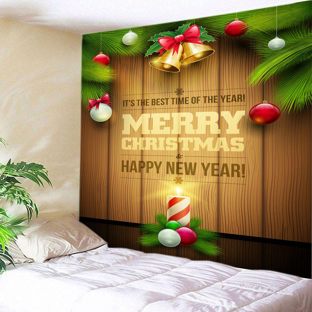 Light Brown W59 Inch * L51 Inch Christmas Bell Baubles Print ...