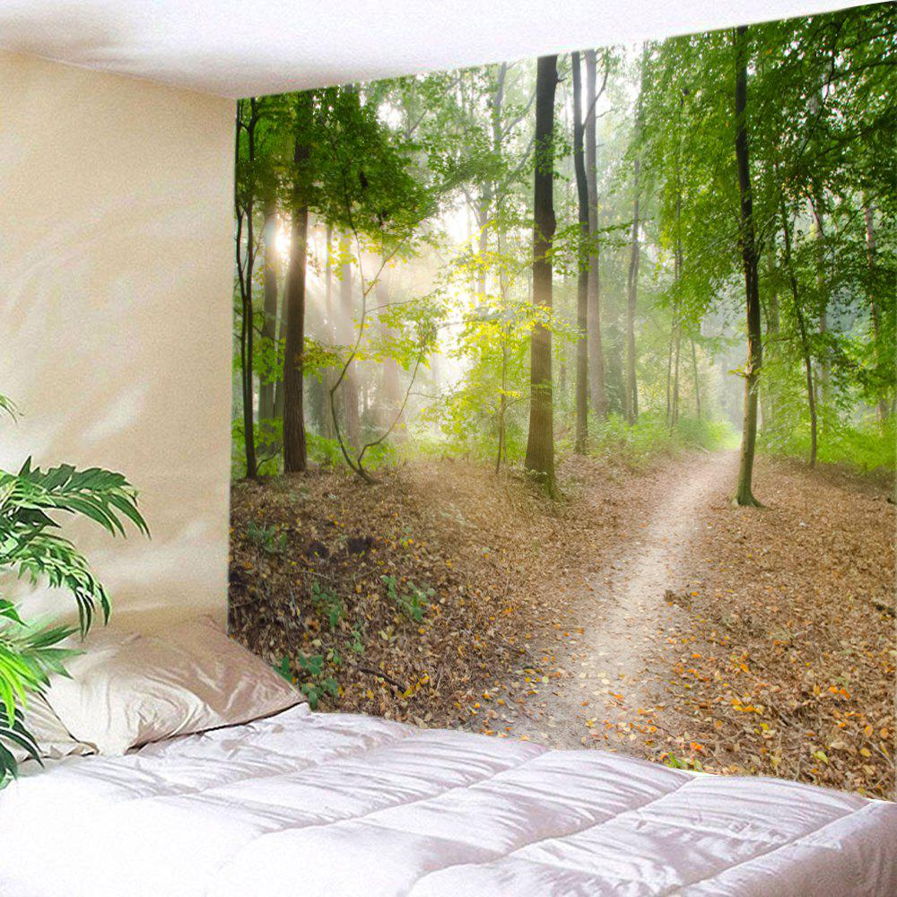 Forest Track Print Tapestry Wall Hanging Art DecorationHOME<br><br>Size: W91 INCH * L71 INCH; Color: GREEN; Style: Festival; Theme: Landscape; Material: Polyester; Feature: Washable; Shape/Pattern: Forest; Weight: 0.4000kg; Package Contents: 1 x Tapestry;