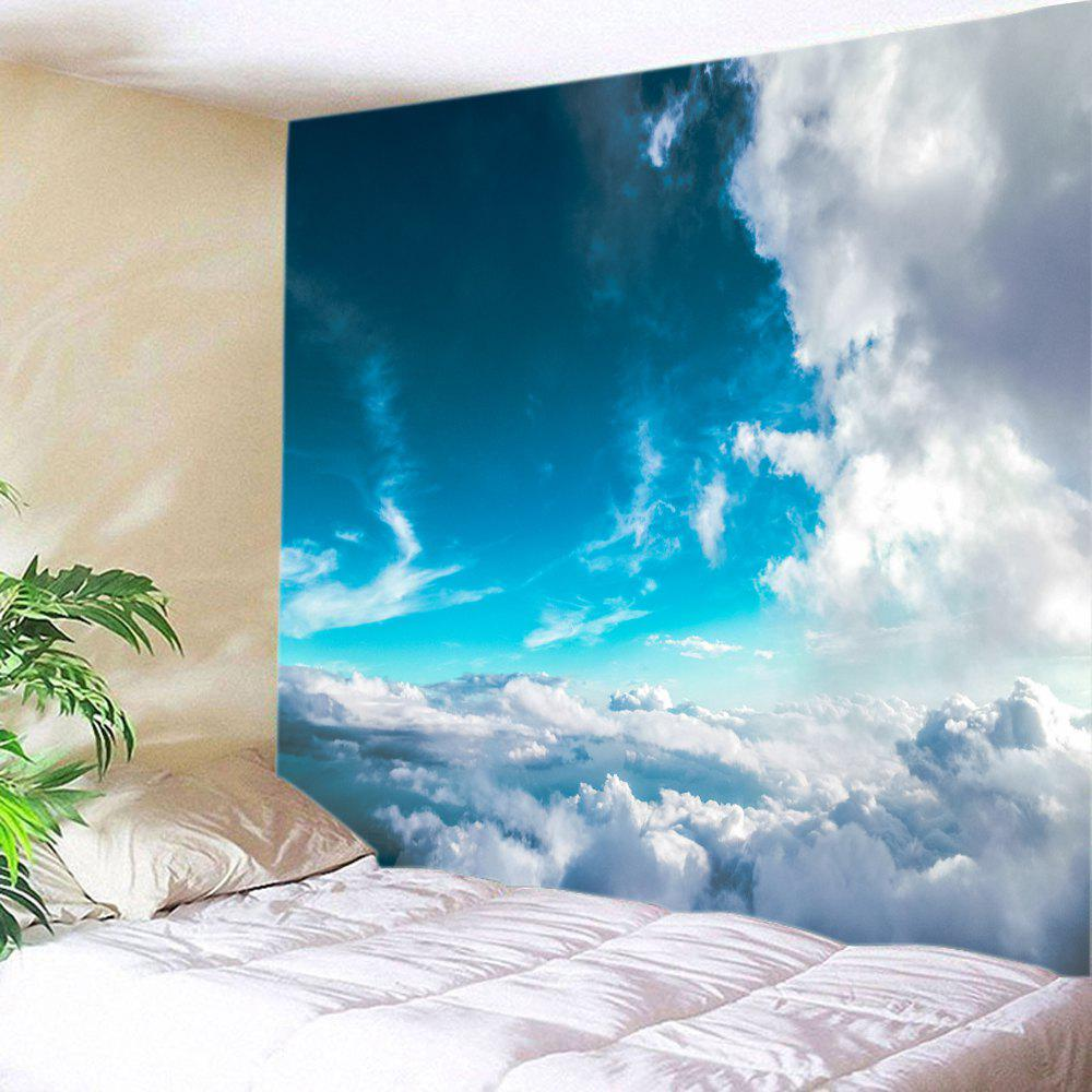 Sea of Clouds Print Tapestry Wall Hanging Art DecorationHOME<br><br>Size: W59 INCH * L51 INCH; Color: BLUE SKY + CLOUD; Style: Natural; Theme: Landscape; Material: Polyester; Feature: Washable; Shape/Pattern: Print; Weight: 0.3000kg; Package Contents: 1 x Tapestry;
