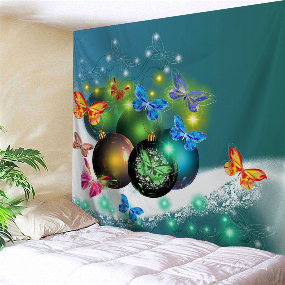 Christmas Ball Butterfly Wall Art Tapestry