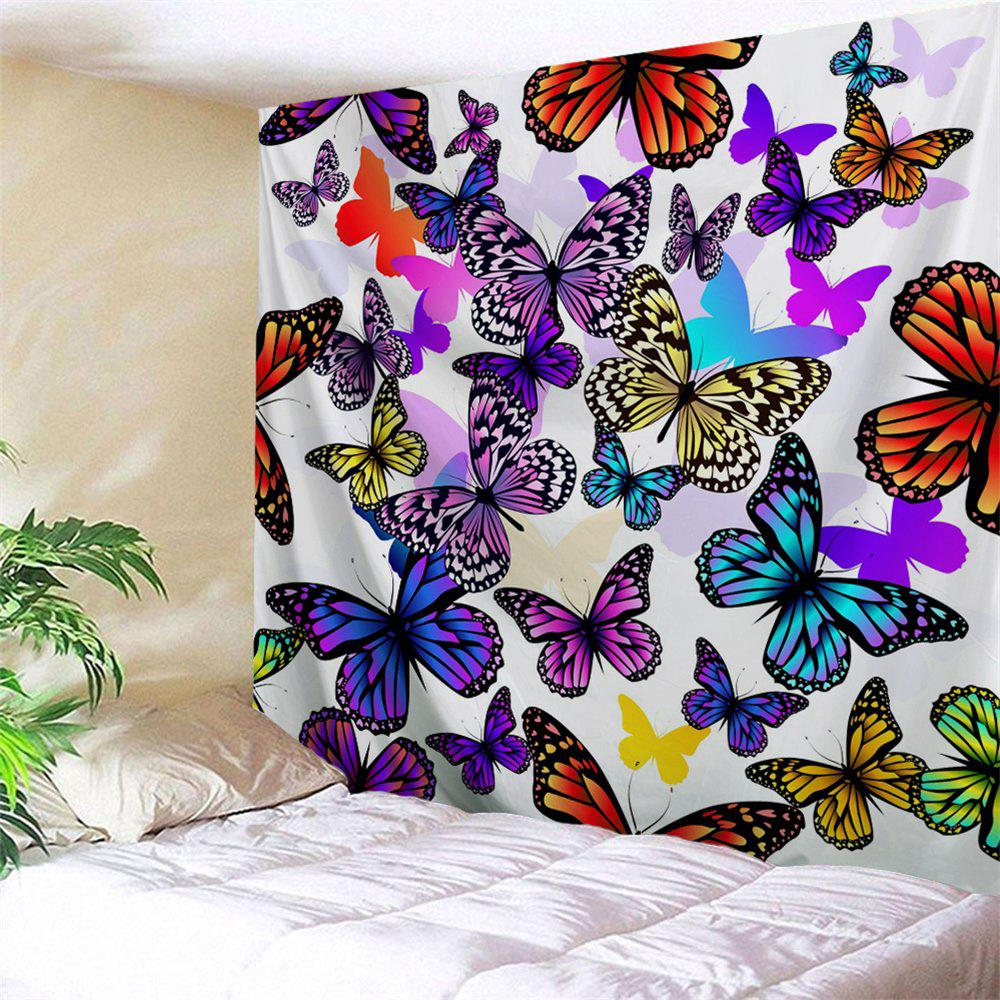 Colorful Butterfly Print Wall Hanging TapestryHOME<br><br>Size: W91 INCH * L71 INCH; Color: COLORFUL; Style: Fashion; Material: Polyester; Feature: Removable,Washable; Shape/Pattern: Butterfly; Weight: 0.3800kg; Package Contents: 1 x Tapestry;