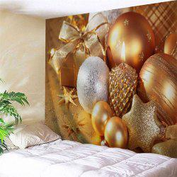 Wall Decor Christmas Candle Ornaments Tapestry - Golden - W91 Inch * L71 Inch