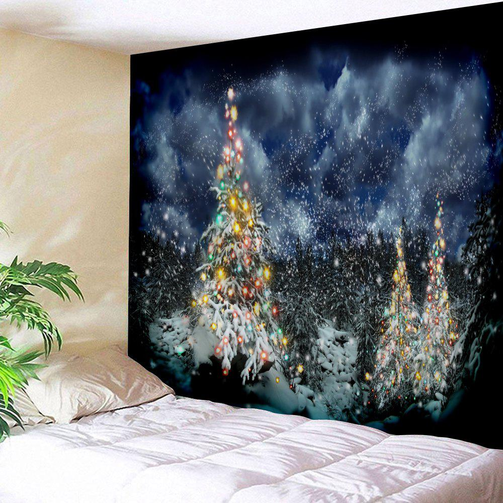 Wall Hanging Christmas Cedar Pattern TapestryHOME<br><br>Size: W91 INCH * L71 INCH; Color: COLORMIX; Style: Festival; Theme: Christmas; Material: Polyester; Feature: Removable,Washable; Shape/Pattern: Tree; Weight: 0.3800kg; Package Contents: 1 x Tapestry;