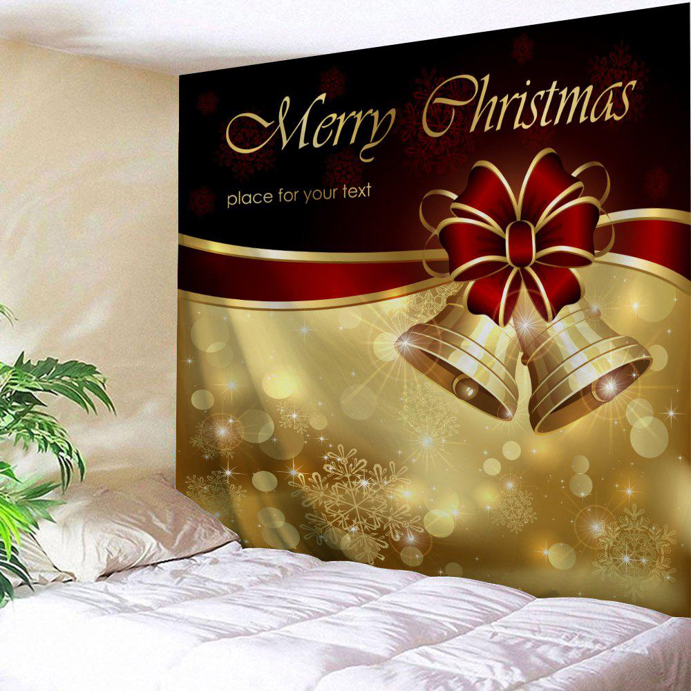 Golden W91 Inch * L71 Inch Wall Decor Merry Christmas Bell Tapestry ...