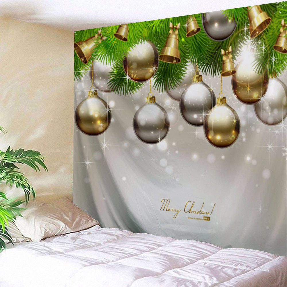 Christmas Ornaments Bell Wall Decor TapestryHOME<br><br>Size: W59 INCH * L51 INCH; Color: GRAY; Style: Festival; Theme: Christmas; Material: Polyester; Feature: Removable,Washable; Shape/Pattern: Ball; Weight: 0.1800kg; Package Contents: 1 x Tapestry;