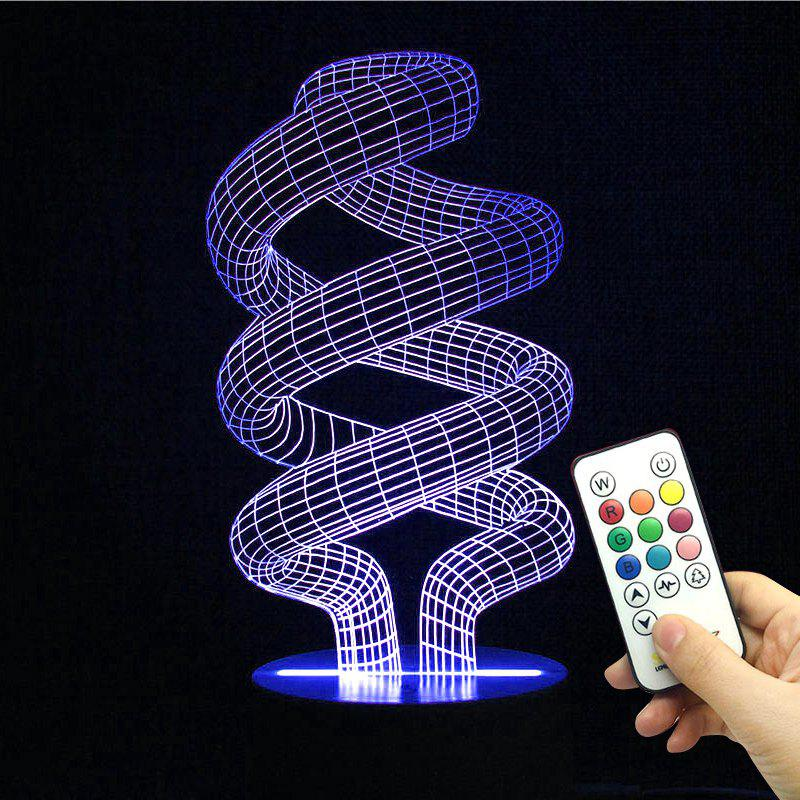 Winding Shape Remote Control Color Change Night Light 230801601