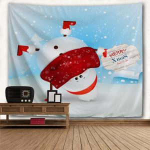 Christmas Handstand Snowman Print Tapestry Wall Hanging Art Décoration -
