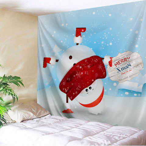 Christmas Handstand Snowman Print Tapestry Wall Hanging Art Décoration