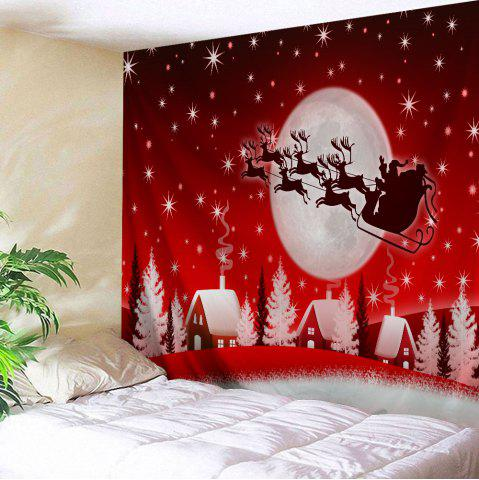 Christmas Sleigh Village Print Tapestry Wall Hanging Art Décoration