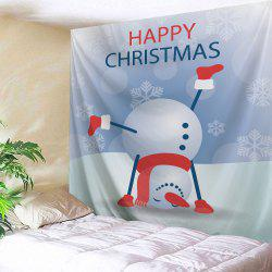 Christmas Snowman Handstand Print Tapestry Wall Hanging Art Décoration -