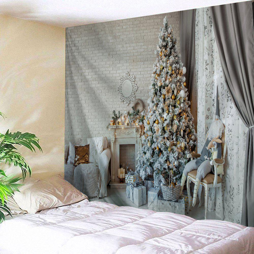 Christmas Tree Saloon Print Tapestry Wall Hanging Art DecorationHOME<br><br>Size: W91 INCH * L71 INCH; Color: COLORMIX; Style: Festival; Theme: Christmas; Material: Polyester; Feature: Washable; Shape/Pattern: Gift,Tree; Weight: 0.4000kg; Package Contents: 1 x Tapestry;