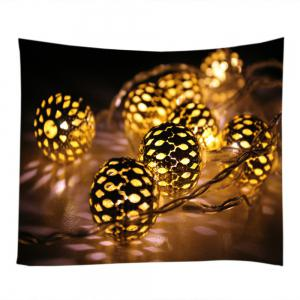 Christmas String Lights Print Tapestry Wall Hanging Art Decoration -