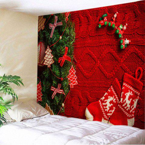 Shop Christmas Tree Stockings Print Tapestry Wall Hanging Art Decoration
